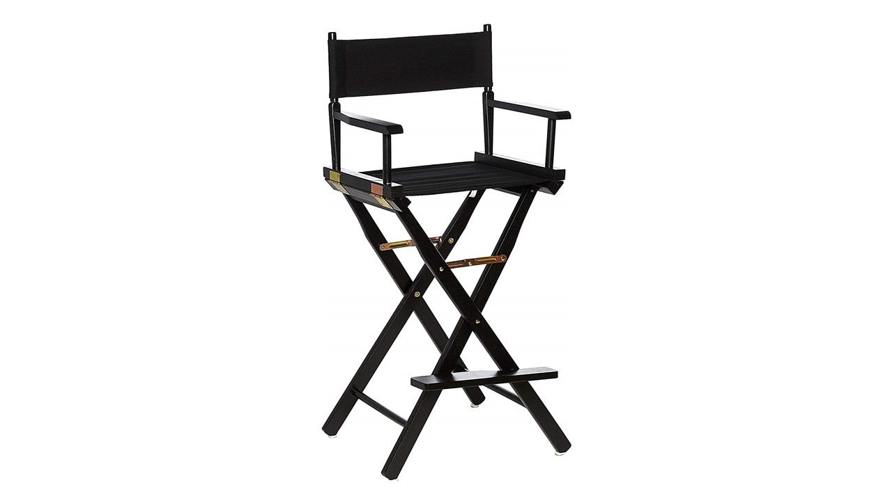 Charmant Bar Stools B Directors Chairs Black With Black Frame For Rent
