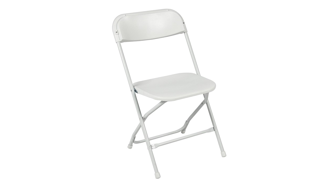 A Folding Chair Affordable White Plastic For Rent