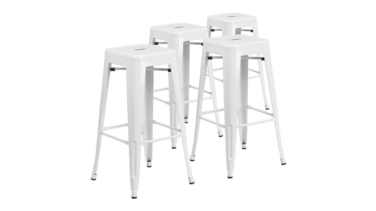Bar Stools Aluminum White For Rent
