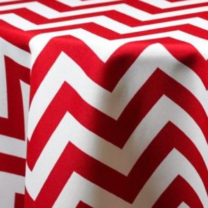 Three Inch Chevron Print Tablecloths