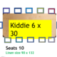 D5 Kids Tables for Rent - Kiddie 6X30