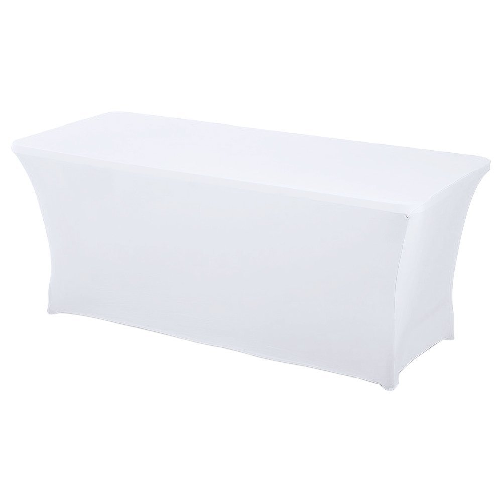 Spandex White For 6 FT \u0026 8 FT Table for Rent - Spandex Table Cloth 4  sc 1 st  New York Party Rentals LLC & Spandex White For 6 FT \u0026 8 FT Table for Rent \u2013 Party Rentals NYC ...