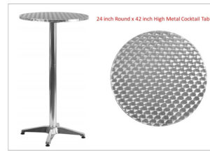 Metal Aluminum Cocktail Table
