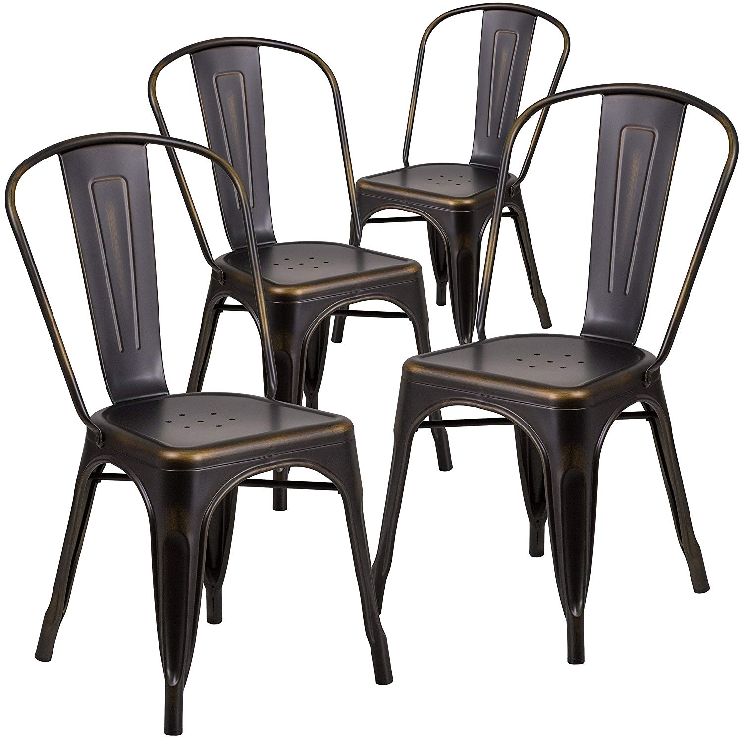 bistro cafe chair distressed copper metal party rentals nyc new
