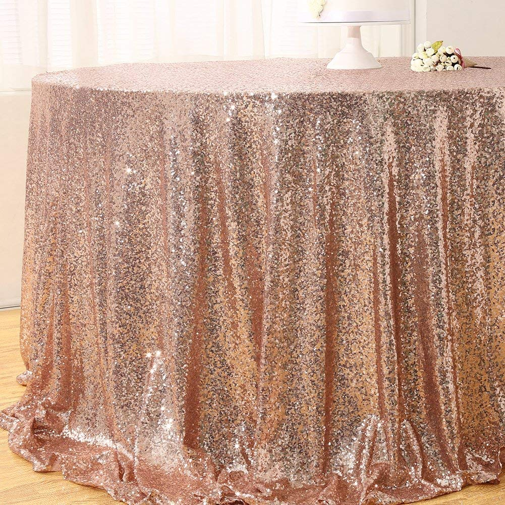 Sequin Tablecloth Rose Gold For Rent