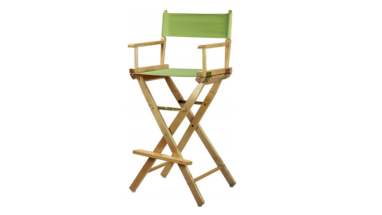Bar Stools Directors Chairs Natural Frame Canvas Height Lime Green