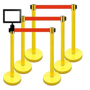 Retractable Stanchion Yellow