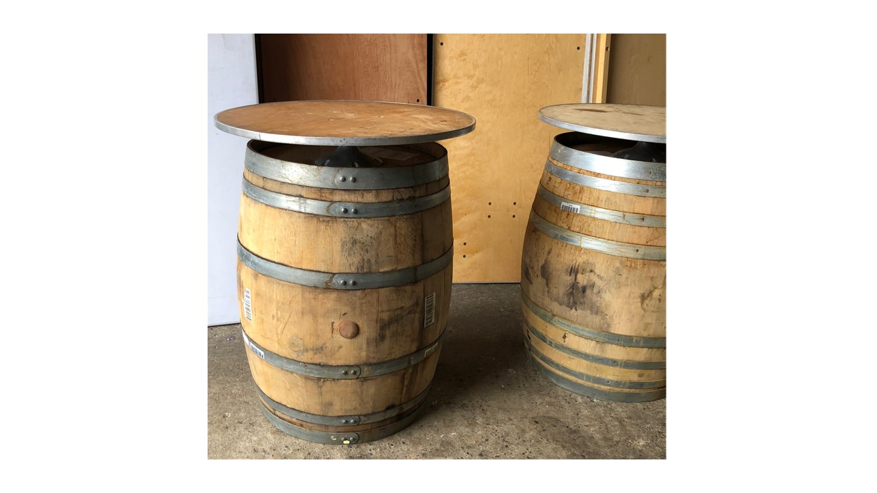A2 Wine Barrel Rustic Cocktail Tables Party Rentals Nyc New York