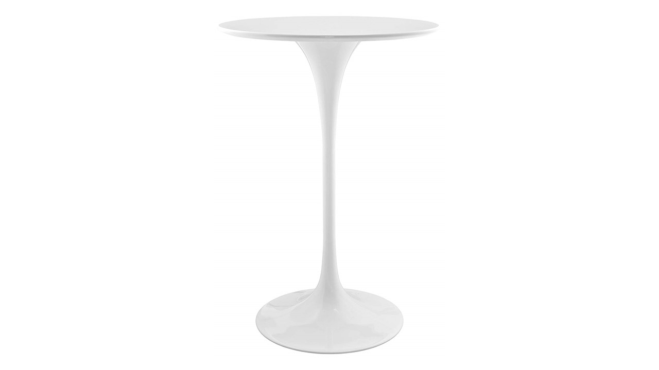 A2 Lippa White Cocktail Tables 28 Round Bar Height Finish Top Party Rentals Nyc New York Party Rentals Llc