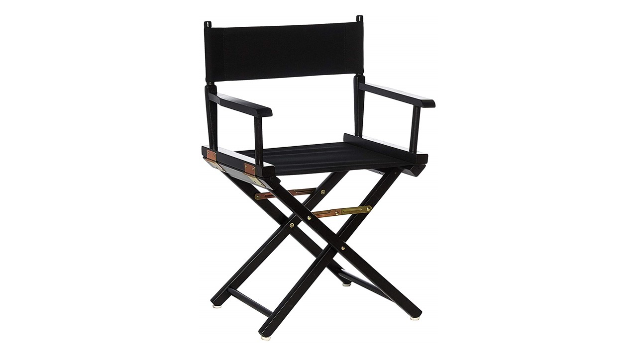 Directors Chairs 18u2032 Black Frame With Black Canvas