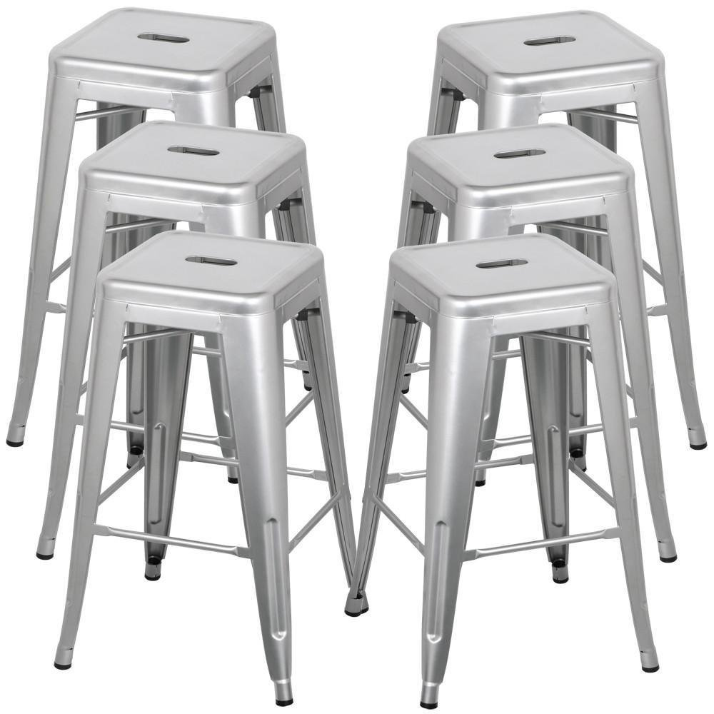 Spandex Cocktail Tablecloths And Bar Stools For Rent   Silver Aluminum Bar  Stool